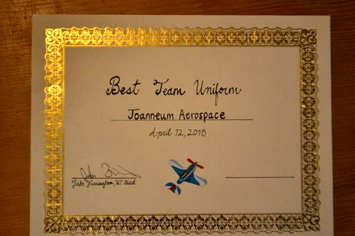 Special award for the best team uniforms
