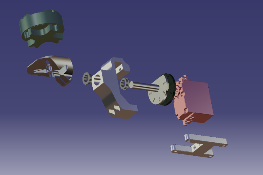 Tilt Mechanism of Final Prototype in CATIAV5