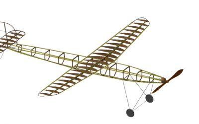 Demonstration of a Reverse Engineering Process for a Historic Aircraft Model Based on 2D-Drawings